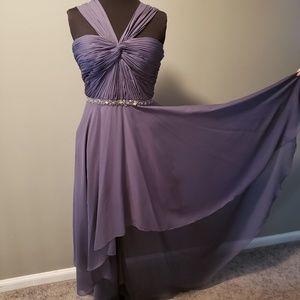 Dresses & Skirts - Gray bridesmaid dress with gemstone embellishment